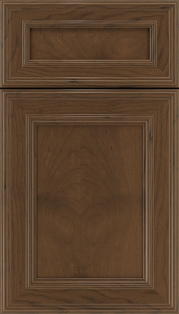 Chatham 5pc Cherry recessed panel cabinet door in Sienna