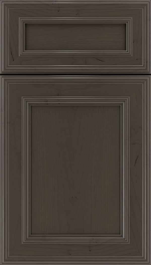 Chatham 5pc Cherry recessed panel cabinet door in Thunder