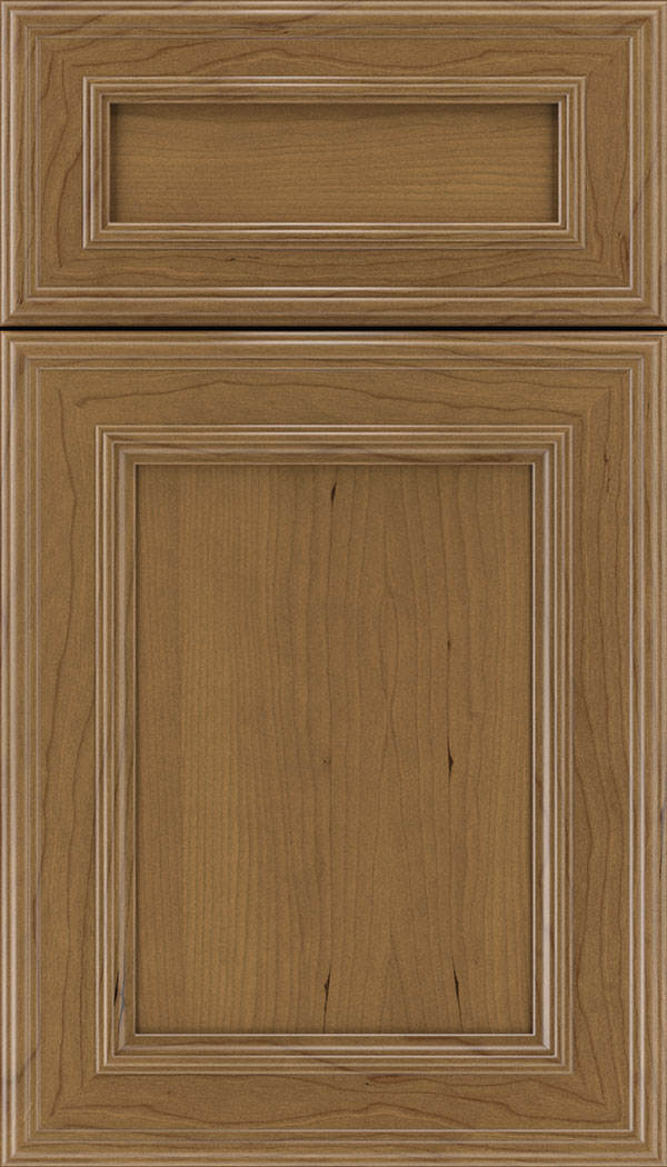 Chatham 5pc Cherry recessed panel cabinet door in Tuscan