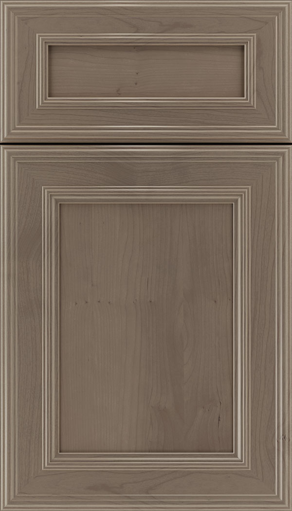 Chatham 5pc Cherry recessed panel cabinet door in Winter