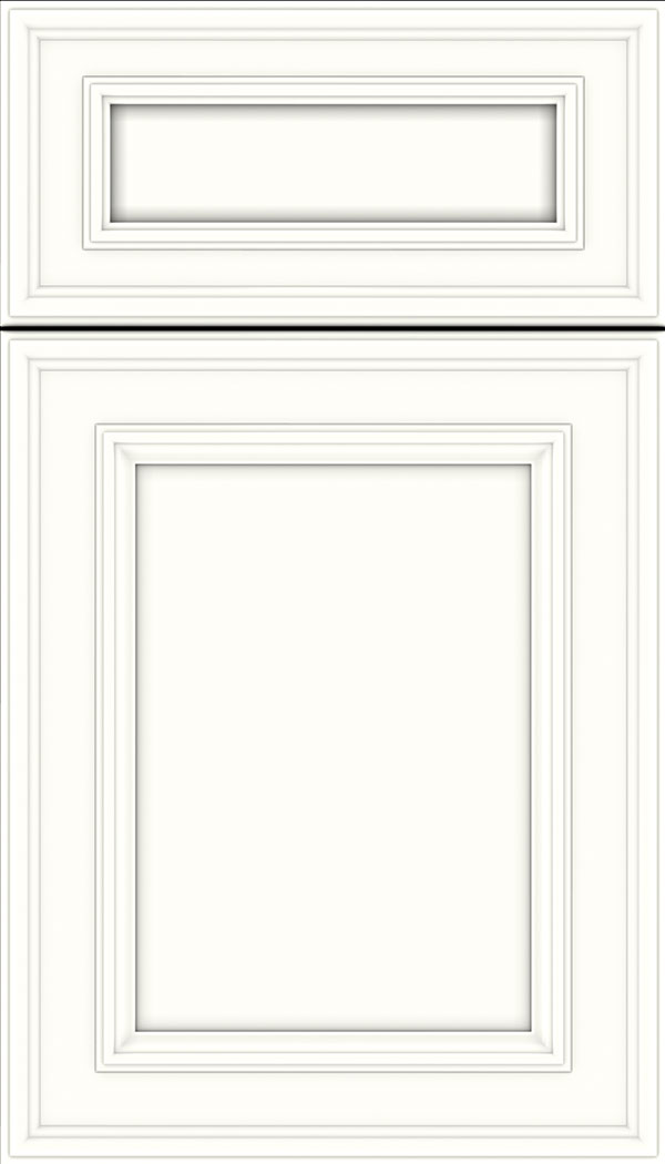 Chatham 5pc Maple recessed panel cabinet door in Alabaster