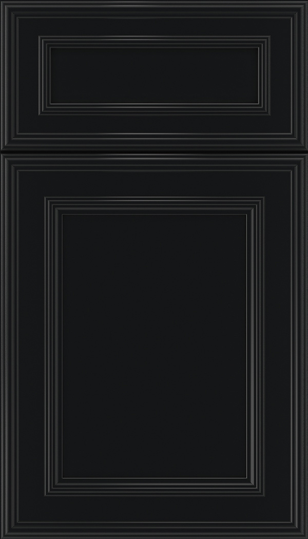 Chatham 5pc Maple recessed panel cabinet door in Black