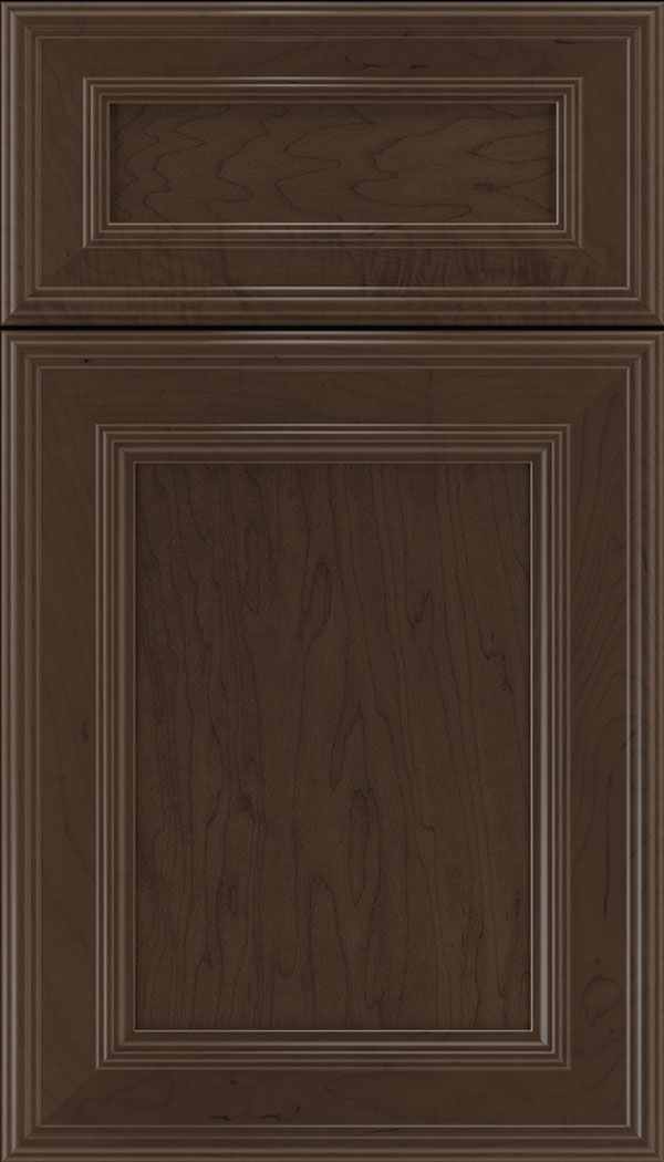 Chatham 5pc Maple recessed panel cabinet door in Cappuccino