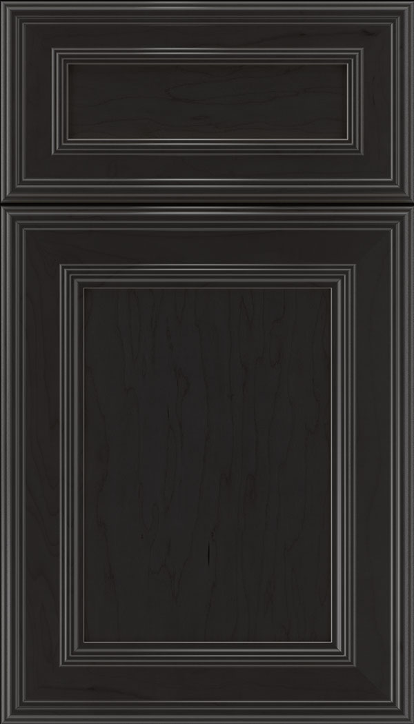 Chatham 5pc Maple recessed panel cabinet door in Charcoal