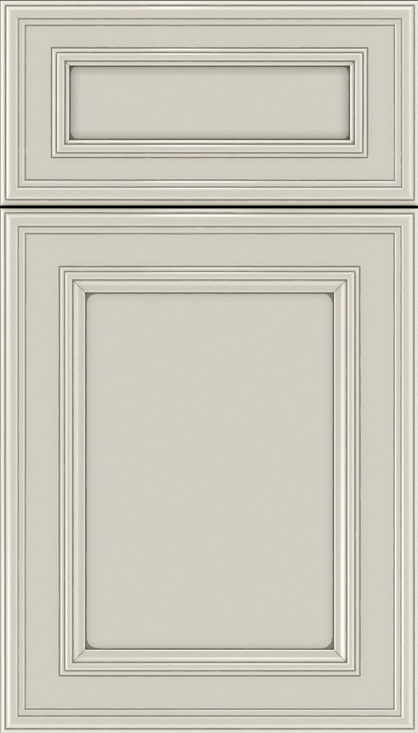 Chatham 5pc Maple recessed panel cabinet door in Cirrus with Pewter glaze