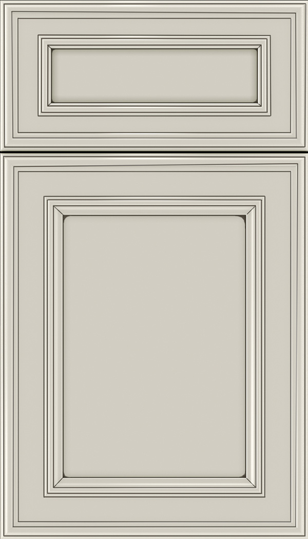 Chatham 5pc Maple recessed panel cabinet door in Cirrus with Smoke glaze