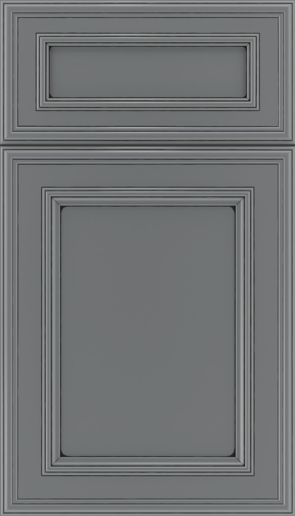 Chatham 5pc Maple recessed panel cabinet door in Cloudburst with Black glaze