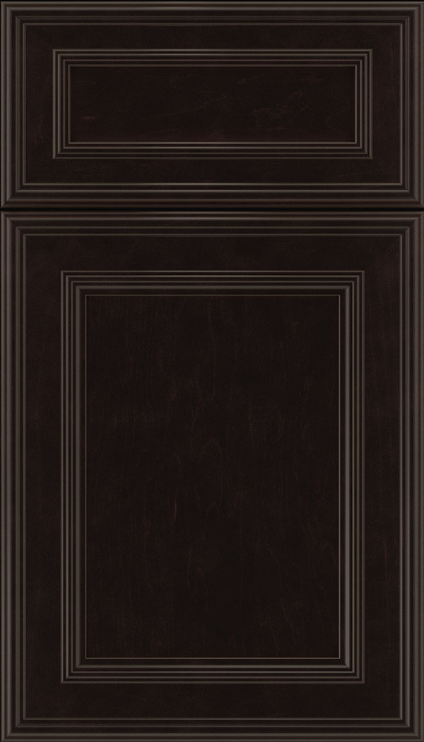 Chatham 5pc Maple recessed panel cabinet door in Espresso