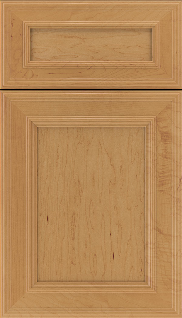 Chatham 5pc Maple recessed panel cabinet door in Ginger