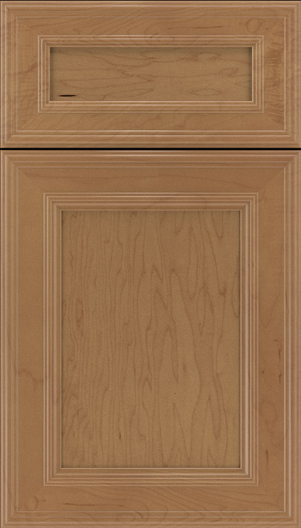 Chatham 5pc Maple recessed panel cabinet door in Nutmeg