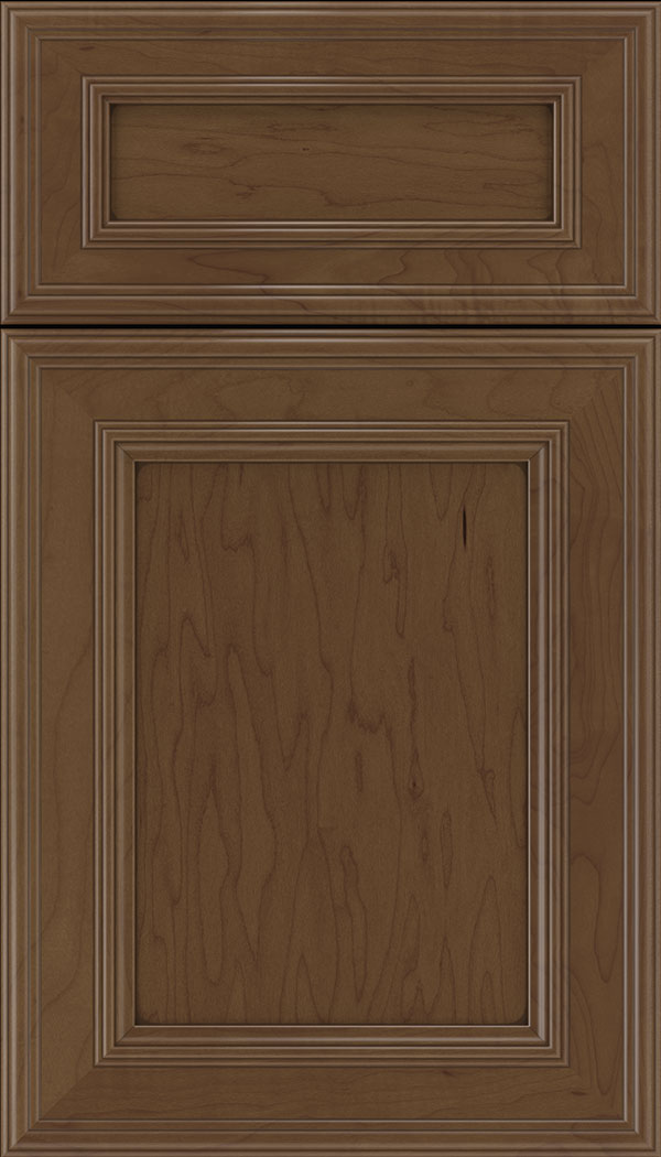 Chatham 5pc Maple recessed panel cabinet door in Sienna with Mocha glaze