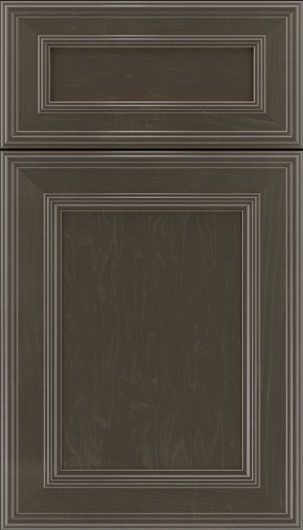 Chatham 5pc Maple recessed panel cabinet door in Thunder