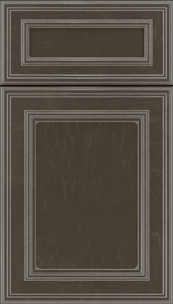 Chatham 5pc Maple recessed panel cabinet door in Thunder with Pewter glaze