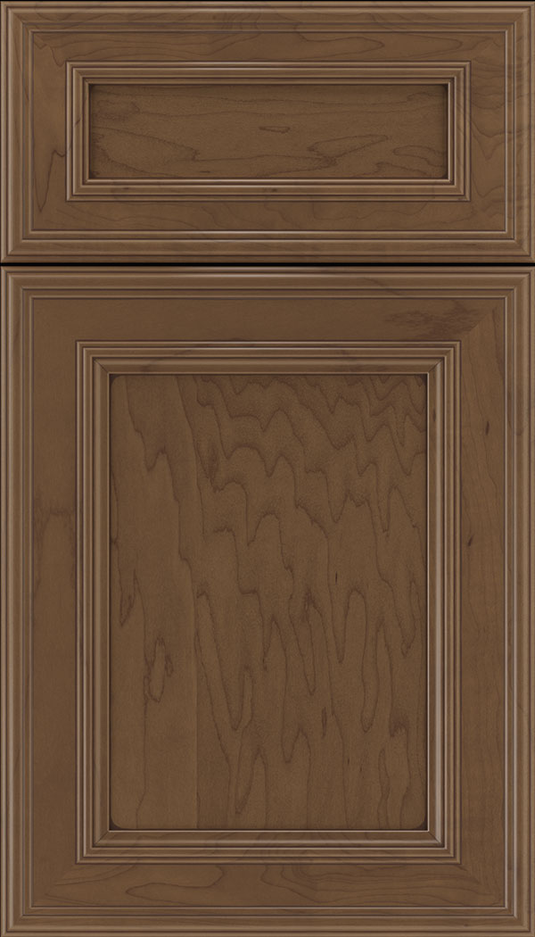 Chatham 5pc Maple recessed panel cabinet door in Toffee with Mocha glaze