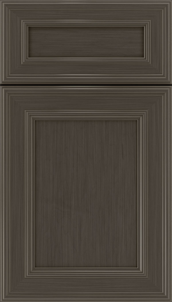 Chatham 5pc Maple recessed panel cabinet door in Weathered Slate