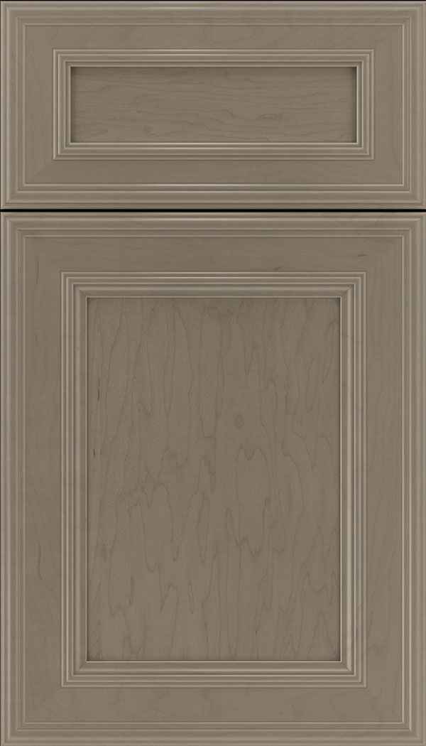 Chatham 5pc Maple recessed panel cabinet door in Winter with Pewter glaze
