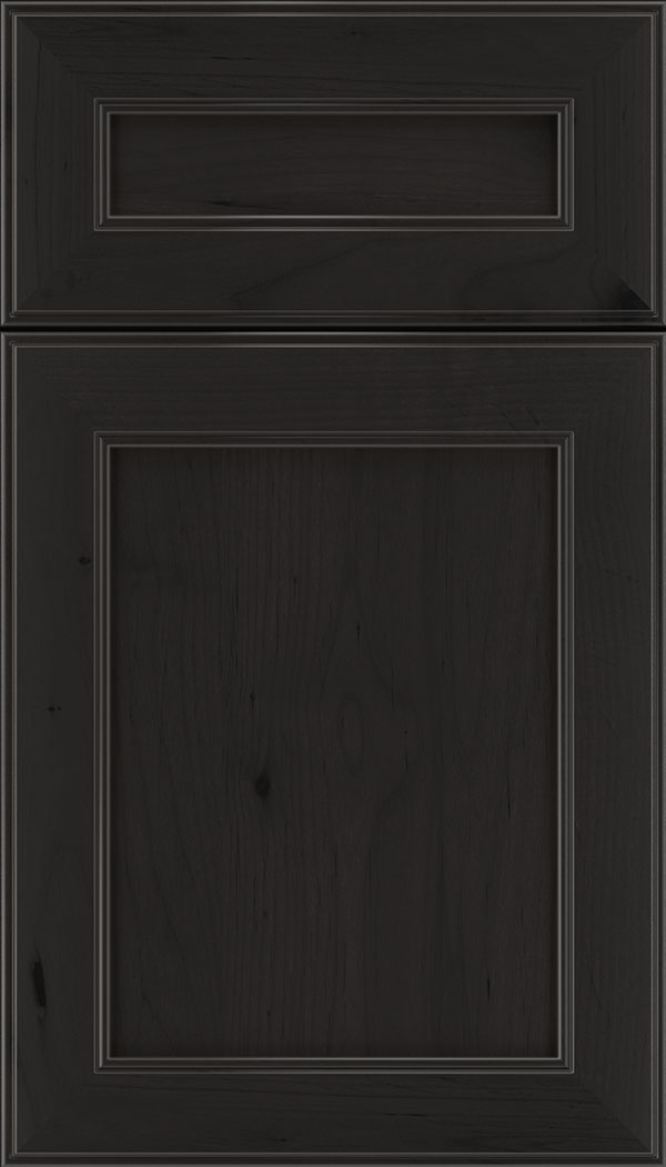 Chelsea 5pc Alder flat panel cabinet door in Charcoal