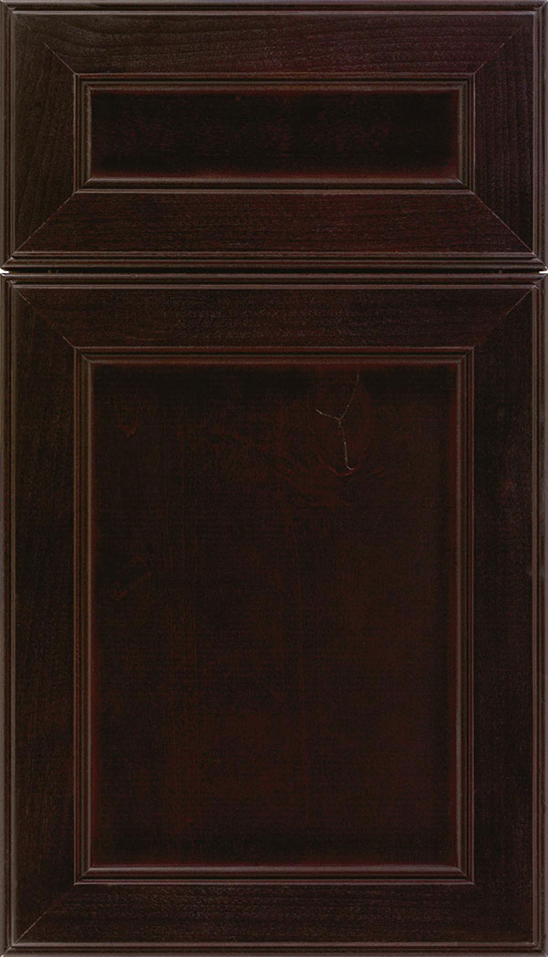 Chelsea 5pc Alder flat panel cabinet door in Espresso