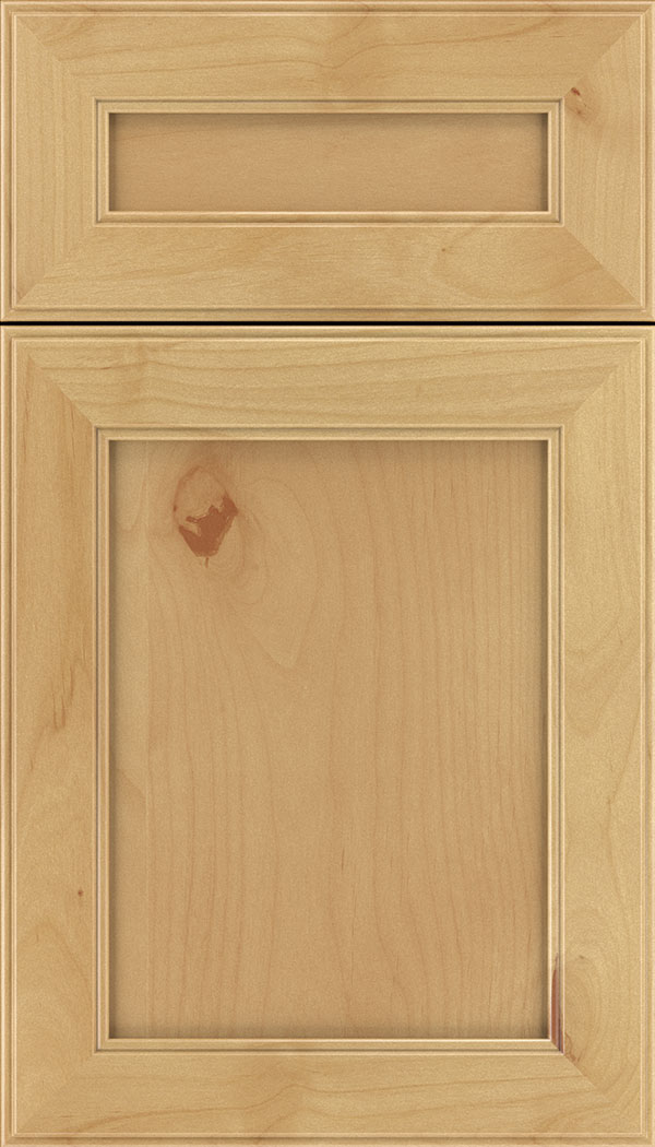 Chelsea 5pc Alder flat panel cabinet door in Natural