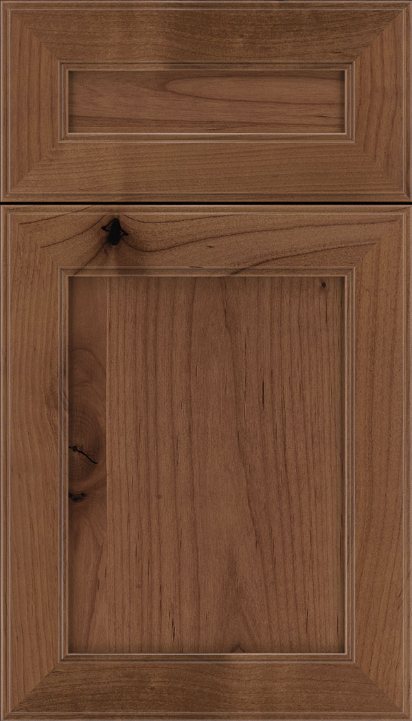 Chelsea 5pc Alder flat panel cabinet door in Nutmeg
