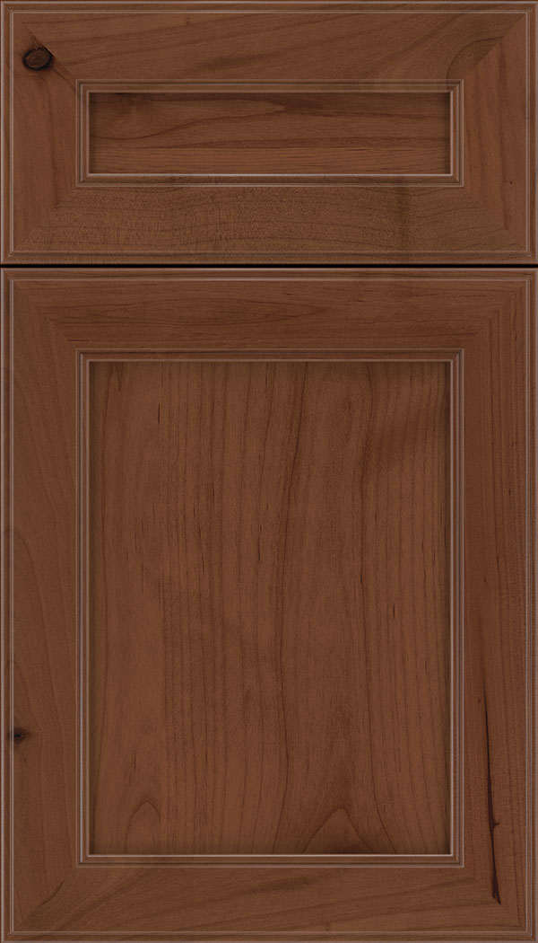 Chelsea 5pc Alder flat panel cabinet door in Russet