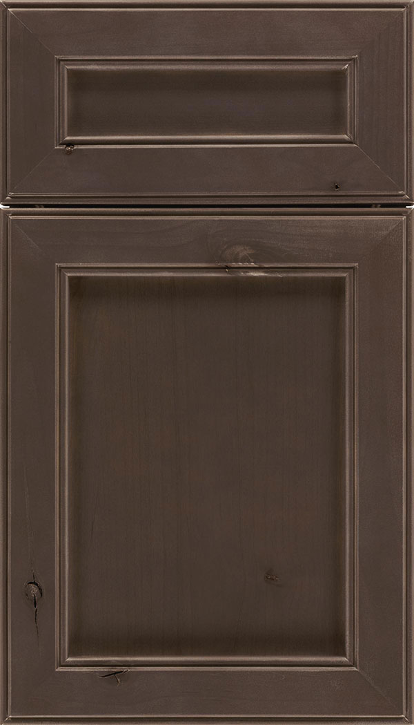 Chelsea 5pc Alder flat panel cabinet door in Thunder