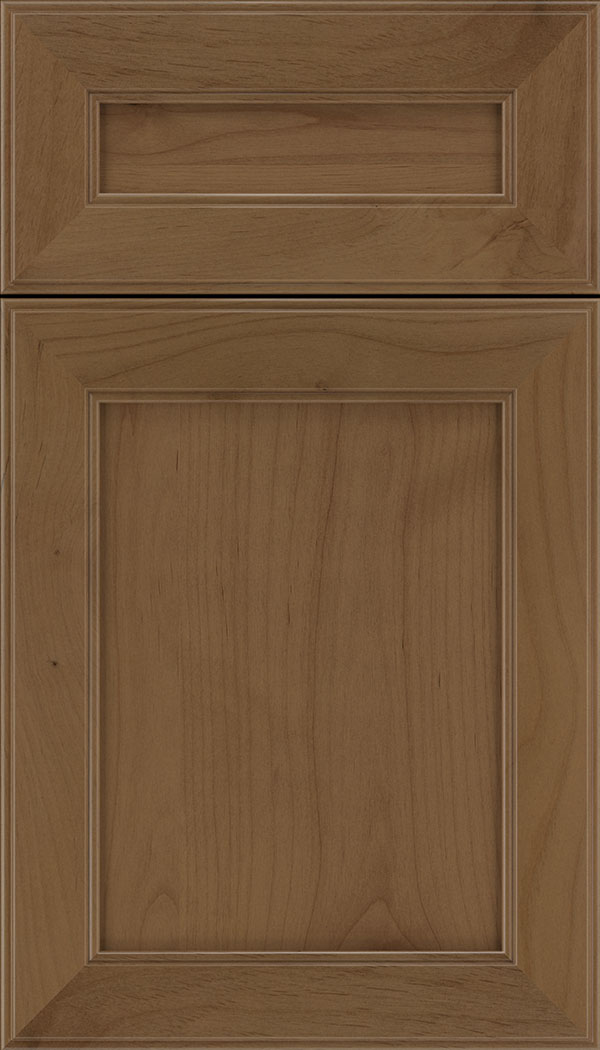 Chelsea 5pc Alder flat panel cabinet door in Tuscan