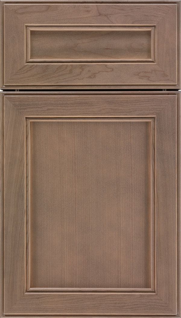 Chelsea 5pc Cherry flat panel cabinet door in Winter