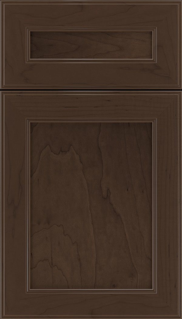 Chelsea 5pc Maple flat panel cabinet door in Cappuccino