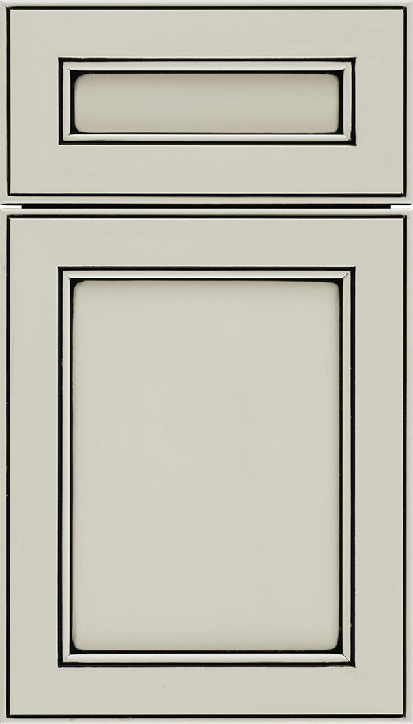 Chelsea 5-Piece Maple flat panel cabinet door in Cirrus with Black glaze