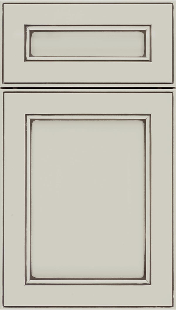 Chelsea 5pc Maple flat panel cabinet door in Cirrus with Smoke glaze