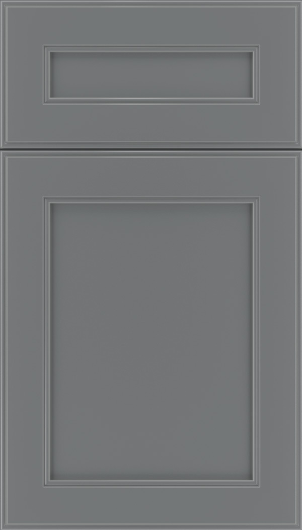 Chelsea 5pc Maple flat panel cabinet door in Cloudburst