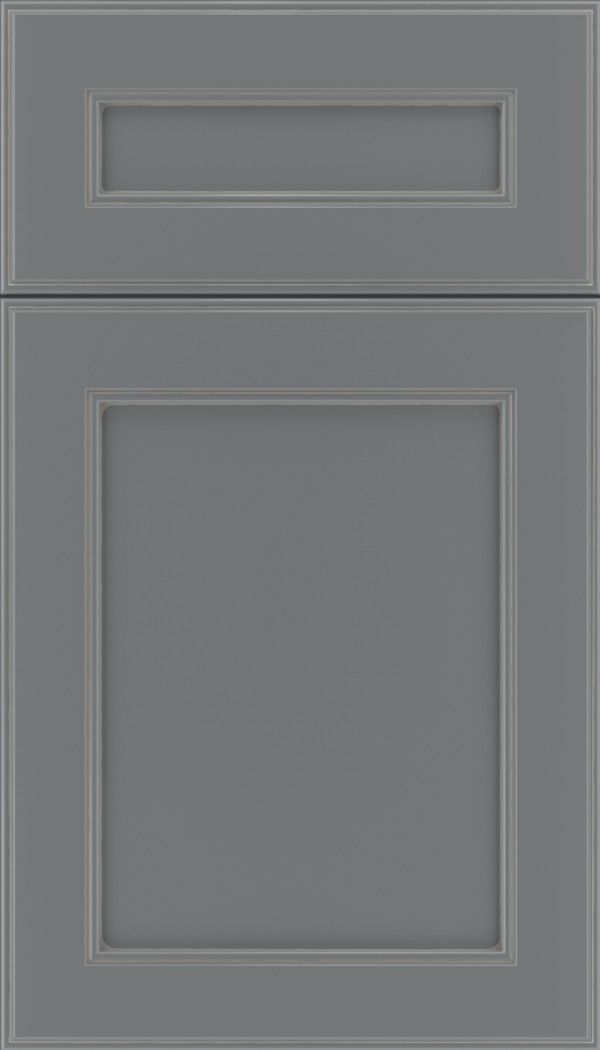 Chelsea 5pc Maple flat panel cabinet door in Cloudburst with Pewter glaze