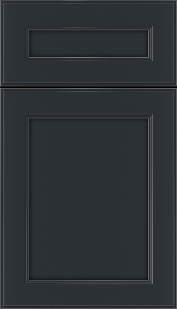 Chelsea 5pc Maple flat panel cabinet door in Gunmetal Blue