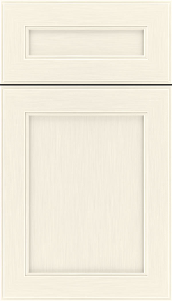 Chelsea 5pc Maple flat panel cabinet door in Millstone