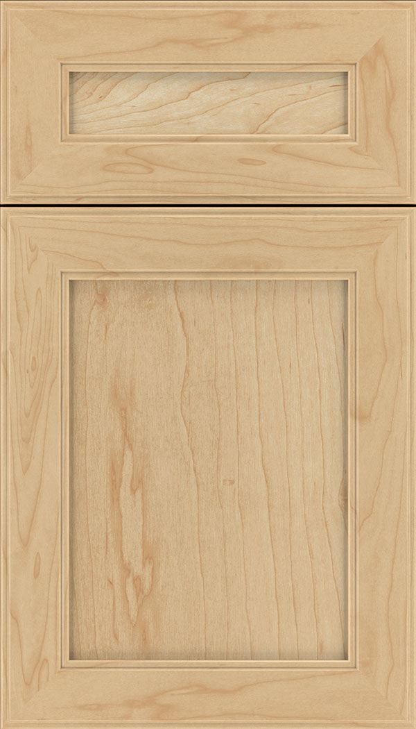 Chelsea 5pc Maple flat panel cabinet door in Natural