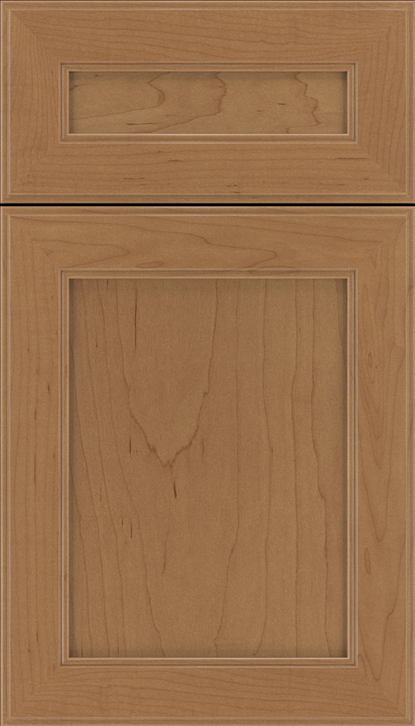 Chelsea 5pc Maple flat panel cabinet door in Nutmeg