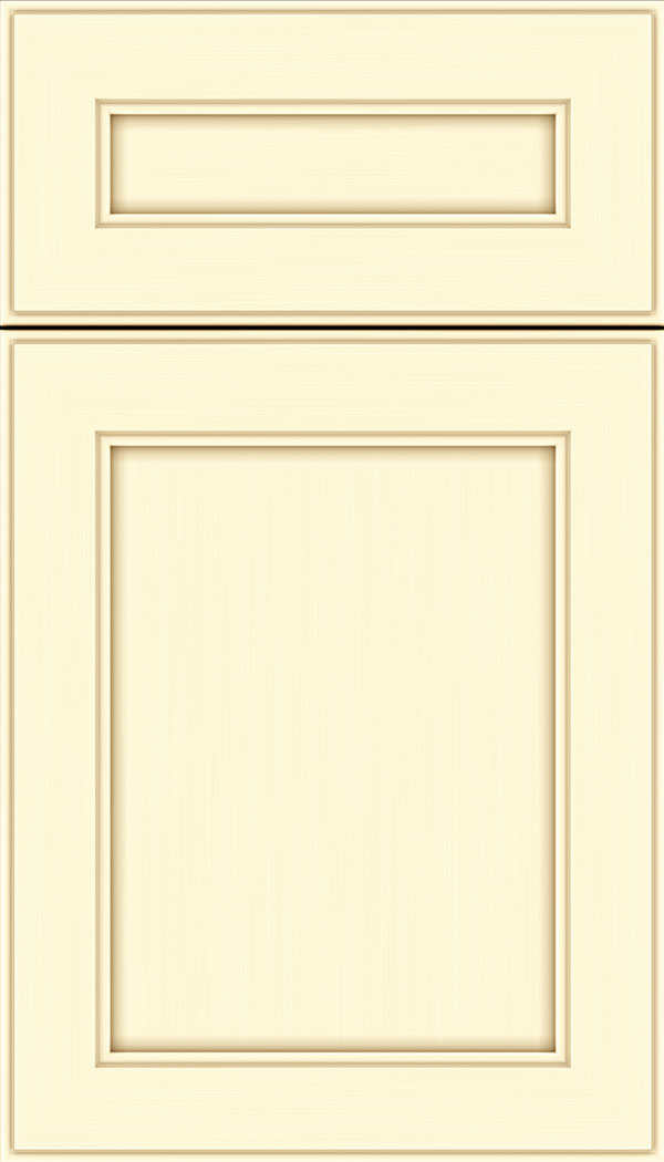 Chelsea 5pc Maple flat panel cabinet door in Palomino