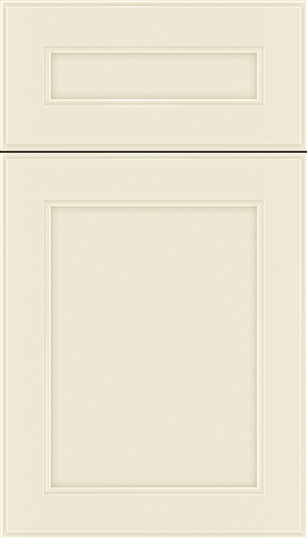 Chelsea 5pc Maple flat panel cabinet door in Seashell