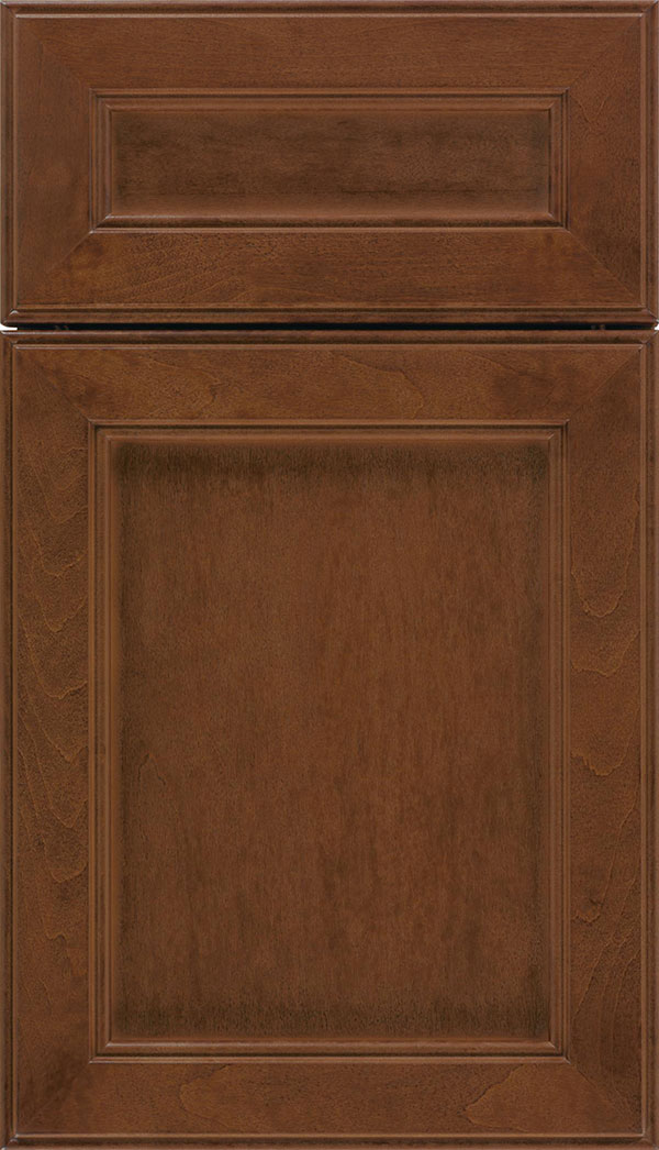 Chelsea 5pc Maple flat panel cabinet door in Sienna