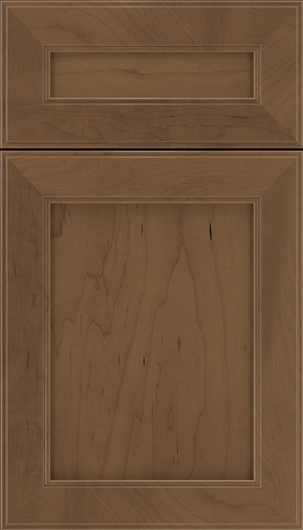 Chelsea 5pc Maple flat panel cabinet door in Toffee