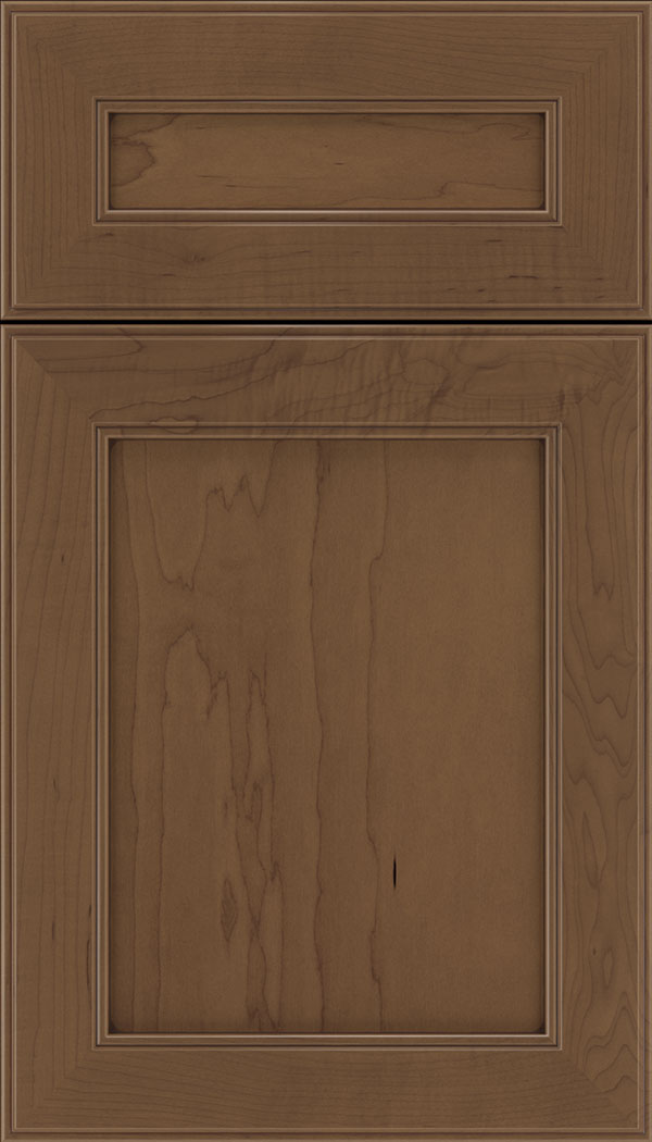 Chelsea 5pc Maple flat panel cabinet door in Toffee with Mocha glaze