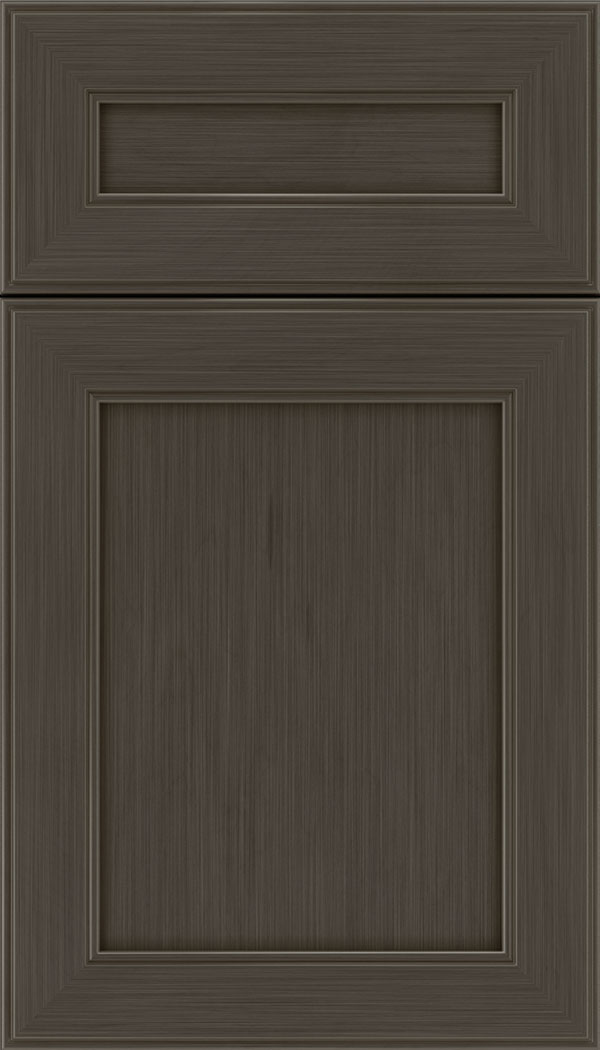 Chelsea 5pc Maple flat panel cabinet door in Weathered Slate