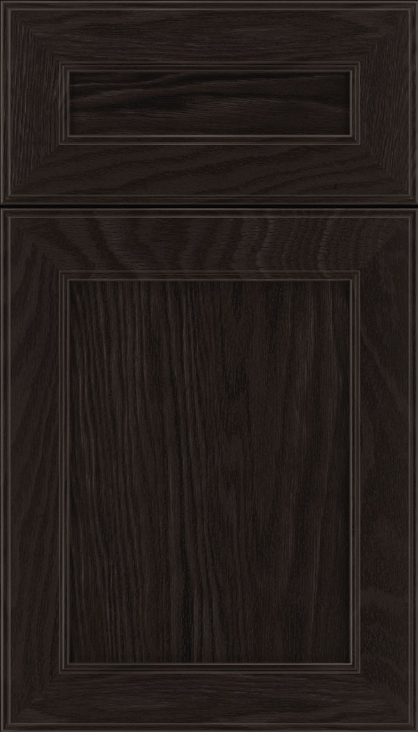Chelsea 5pc Oak flat panel cabinet door in Charcoal