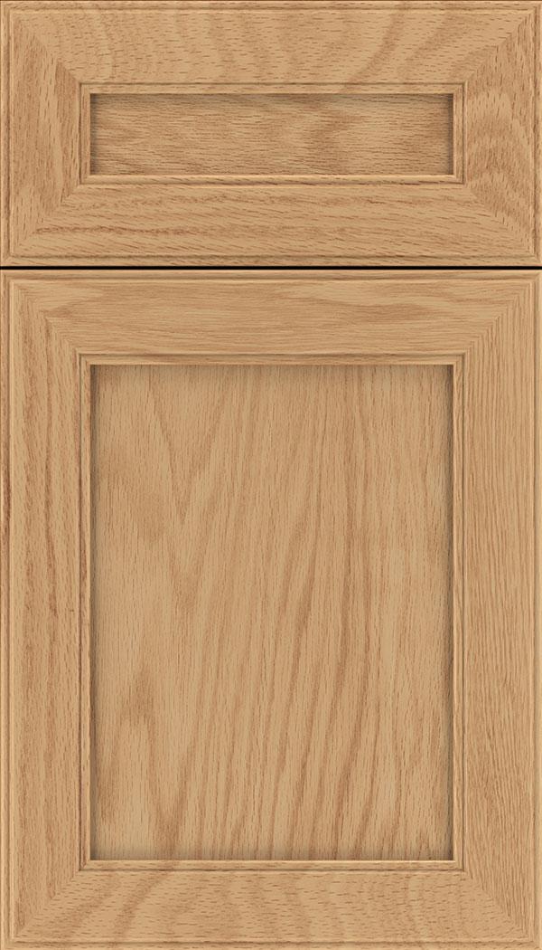 Cambridge; Chelsea 5pc Oak flat panel cabinet door in Honey & Honey Oak Cabinet Finish - Kitchen Craft Cabinetry