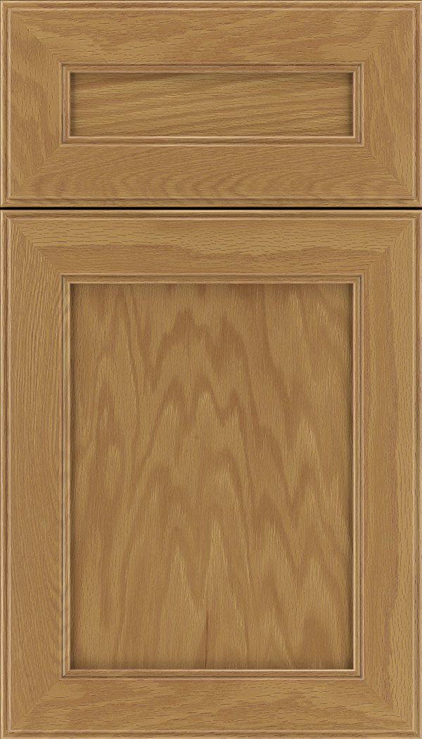 Chelsea 5pc Oak flat panel cabinet door in Spice
