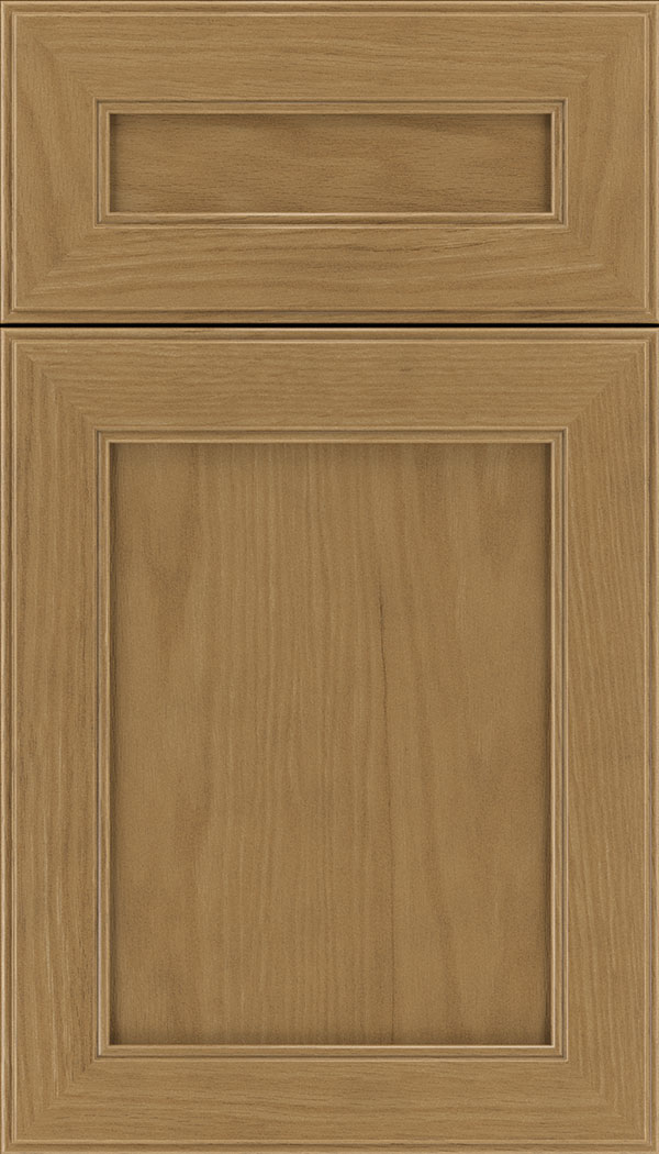 Chelsea 5pc Oak flat panel cabinet door in Tuscan