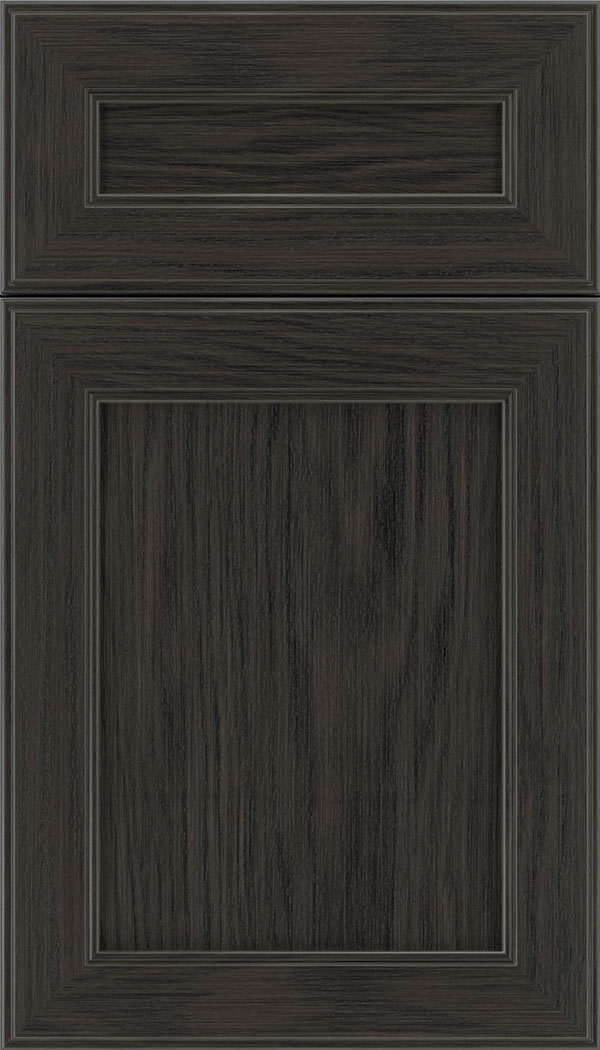 Chelsea 5pc Oak flat panel cabinet door in Weathered Slate