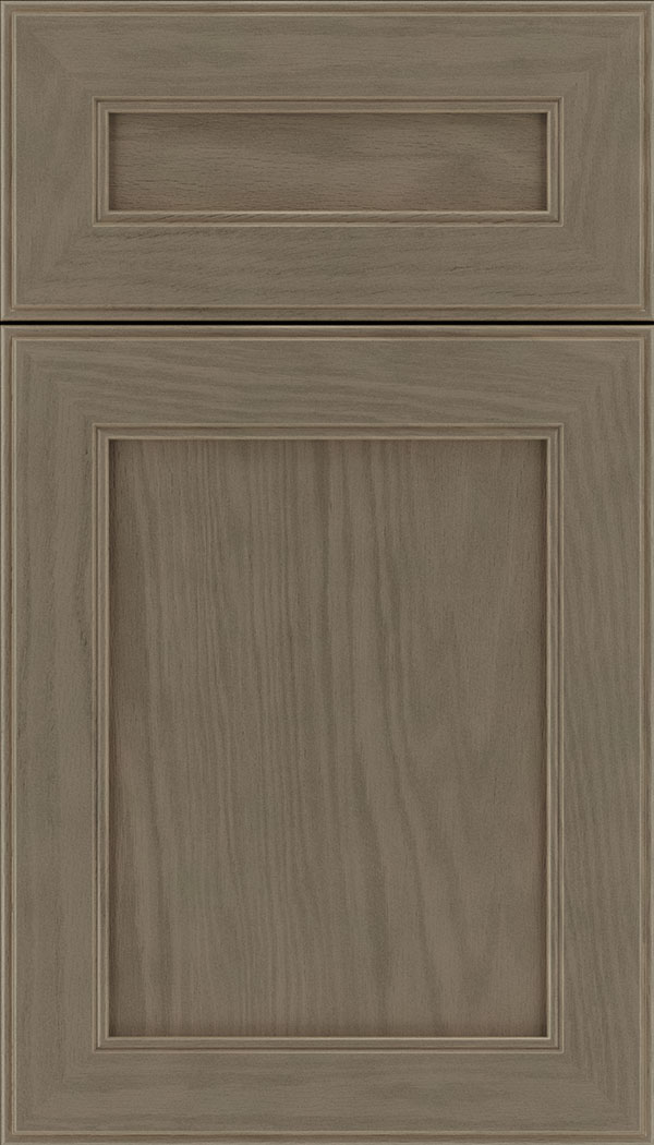 Chelsea 5pc Oak flat panel cabinet door in Winter