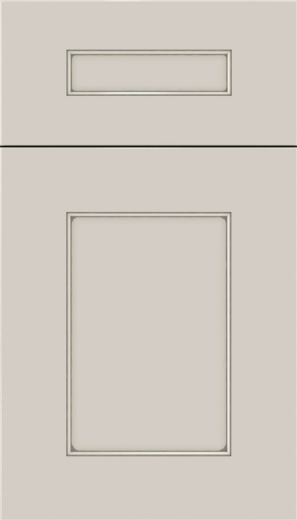 Cochrane 5pc MDF cabinet door in Cirrus with Pewter glaze